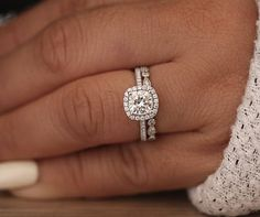 ****Engagement Ring Details**** 14k Solid White Gold (Also can be made in White and Yellow Gold, Please select your choice At Checkout) 1.5-1.6mm (Approximate Band Width) Natural Moissanite (Center Stone, Charles & Colvard Certified Forever Classic) Cushion 6.5mm (Dimensions of Center
