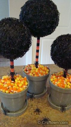 Halloween Spider Trees | Halloween Crafts - Halloween Craft Ideas