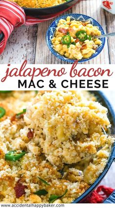 Jalapeno Bacon Mac and Cheese - Accidental Happy Baker Jalapeno Mac And Cheese, Jalapeno Bacon, Cheesy Mac And Cheese, Stuffed Jalapenos With Bacon, Stuffed Peppers, Macaroni Cheese, Yummy Pasta Recipes, Healthy Dinner Recipes, Breakfast Recipes