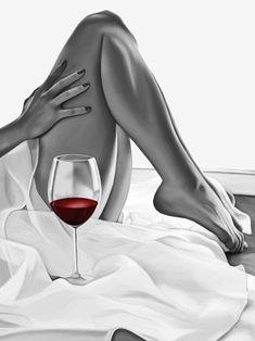 New sexy fantasy art women paintings ideas Wine Photography, Boudoir Photography, Black Art, Black And White, Pernas Sexy, Fantasy Art Women, Woman Wine, Wine Art, In Vino Veritas