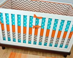 Popular items for orange gray nursery on Etsy