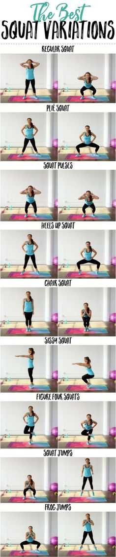 I've gotten a lot of requests to share some different squat variations for out weekly Hump Day Schedule…so I thought I would finally share 10 of the best squat variations to help keep things interesting. These are the BEST out there for toning up the booty and tightening the tush! You can pick you favorite for …