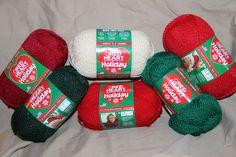 RED HEART HOLIDAY yarn 3.5 OZ EACH NEW smoke & pet free studio price for 1 skein #RedHeartHOLIDAY #yarn96Acrylic4Metallic