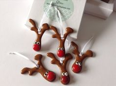 Fused Glass Reindeer