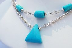 NecklaceTurquoise and Silver   JN222 by Jansjems on Etsy, $165.00