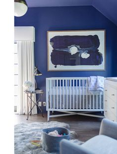 Tiffani Thiessen boys nursery. Great theme. Check it out.