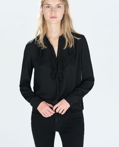 Image 2 of FRILLY SHIRT from Zara
