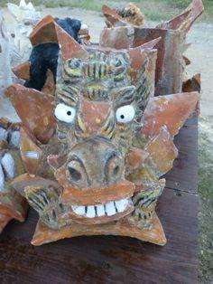 A Seesaa mede of scraps of tile.