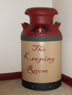 Painted milk can...wasn't totally happy with my 2nd milk can so I repainted it.