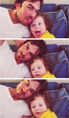 Ian Somerhalder... favorite ... love a man and a baby =] ahhh