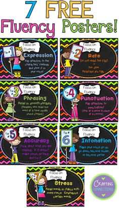 7 FREE Fluency Posters!