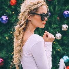 Gorgeous fishtail braided hair for romantic look. #braid #fishtail #braided