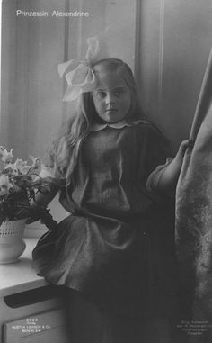 Princess Alexandrine of Prussia. She was born with Down's Syndrome