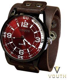 Relógio Bracelete em Couro Masculino   Visite nossa FanPage : https://www.facebook.com/Passarella-Brasil-212170078859412/?fref=ts Visite nosso site: www.passarellabrasil.com.br   #passarellabrasil  #relógiovouth  #vouth