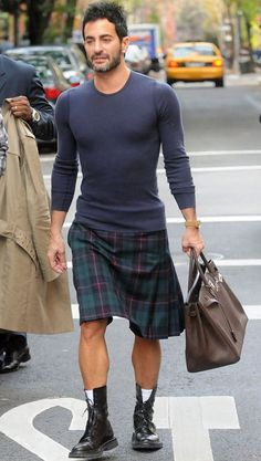 Men's Skirts | Marc Jacobs does his thing for the men in skirts cause.