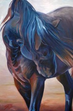 Horse painting by Susan Sheets