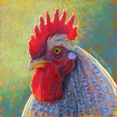 Red by Rita Kirkman Pastel ~ 6 x 6 inches