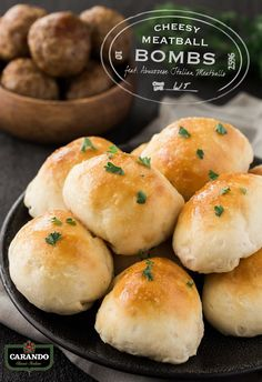 Hosting a fall party? With just a few minutes of prep time and six basic ingredients from Kroger, you can have these Cheesy Meatball Bombs ready to serve to hungry guests. To make this quick and easy appetizer, simply wrap a slice of mozzarella cheese and Carando® Abruzzese Meatballs in pre-made biscuit dough and top with homemade garlic butter. They'll bake up to cheesy, buttery perfection in just 10 minutes!