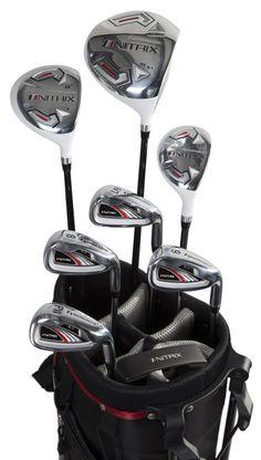 7a20fcf12ec9 Golf Clubs - Pinemeadow Golf Mens Nitrix Pro Set Driver 3 Wood Hybrid Irons  Putter Bag Right Hand Graphite Steel Regular