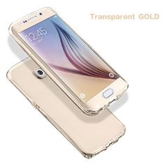 For iPhone For Samsung Galaxy (Front+Back Cover Gel Series), Shockproof TPU 360 degree Protective Clear Crystal Soft Case Cover