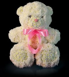 Teddy bear flowers are cute and artistic arrangement. If you all feel to be artistic you can also try bear flowers to have fun in your own way :-). Flowers For You, Unique Flowers, Beautiful Flowers, Cat Flowers, White Flowers, Deco Floral, Art Floral, Floral Design, Flower Crafts