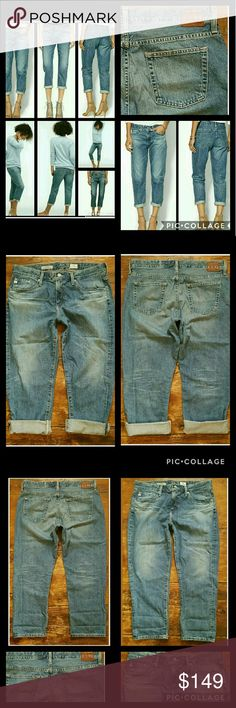 AG Adriano Goldschmied THE DREW Boy Jeans 14YR SND New never worn however i do believe i laundered these! ag-ed vtg line THE DREW straight boyfriend jean in SUNDRENCHED wash 100% cotton = NO stretch  If u love old skool vtg mens levis then these are DEF worthy of housing ur bodacious beautiful behind. As well as ur other sahweet body parts.. JSYK The denim is like a REAL denim. I love buttah soft stretchy denim, & ag is gr8 4 that ,but imho a 100 cotton real denim jean is SUPERIOR when it…