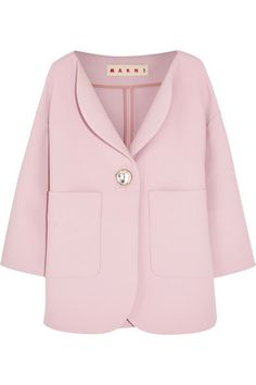 Blush wool-crepe Button fastening at front  100% wool Dry clean Designer color: Azalea Made in Italy