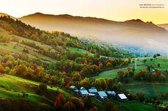 Plesa, village, Suceava County, ROMANIA @ sunrise