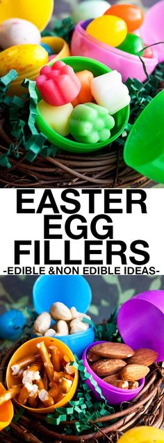These easy EASTER EGG STUFFERS for kids are cheap and fun for Easter egg hunts. Many edible ideas and non edible ideas for Easter egg fillers are included in this list. From cakewhiz.com