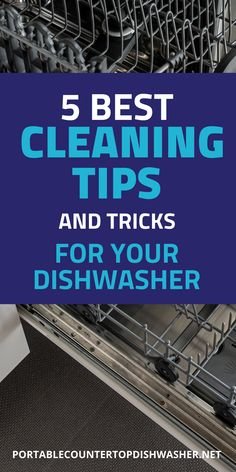 In this article you will learn five of the best cleaning tips and tricks dishwasher to keep your countertop dishwasher running at its full potential. Diy Kitchens, Small Kitchens, Countertop Dishwasher, Countertops, Portable Dishwasher, Professional Cleaning, Cleaning Hacks, Appliances, Shape
