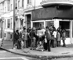 Haight & Ashbury meeting on street corner.  October 29, 1973 Photo: Clay Alders, The Chronicle