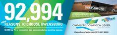 Owensboro Convention Center print ad for the Lane Report magazine.