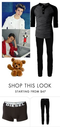"""""""Ashton was walking around , looking for Isla."""" by simply-southern-anons ❤ liked on Polyvore featuring Diesel, Topman, men's fashion and menswear"""