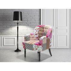 FAUTEUIL Fauteuil patchwork - fauteuil en tissu multicolore