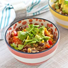 Colorful and Healthy Southwestern Quinoa Salad