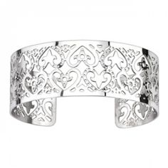 Product Details Stainless steel ladies cuff bracelet features a lovely multi-heart design and is wide to add extra flair to your look. Spikes stainless steel jewelry is a trendsetting jewelry collection created for today's sty Bracelets For Men, Silver Bracelets, Bangle Bracelets, Bangles, Titanium Jewelry, Stainless Steel Jewelry, Heart Patterns, Gems Jewelry, Heart Bracelet