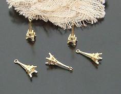 Free shipping/gold tone Charm/Eiffel Tower charm  charm elegant top quality beauty