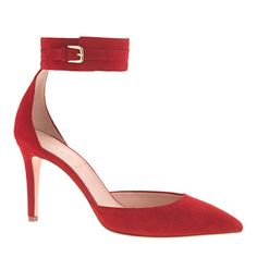 J.Crew+-+Quinn+suede+ankle-cuff+pumps Red - Fall's New Neutral!  Love it!!
