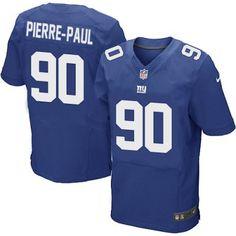 Men's Elite New York Giants Blue Jason Pierre-Paul #90 Nike Jersey
