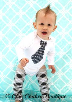 Baby+Boy+Tie+Bodysuit.++Any+Tie.++Black+and+by+ChicCoutureBoutique,+$15.50