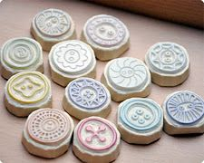 hand carved button stamps