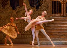 Sarah Lamb as the Sugarplum Fairy with Thiago Soares as her Cavalier in Act 2 of the Royal Ballet's The Nutcracker. Photo by Alice Pennefather