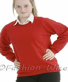 Miss Chief Girls Boys Unisex School Jumper Sweatshirt Uniform Age 3 4 5 6 7 8 9 10 11 12 13 (13 yrs, Red) Excellent QualityThis is classic style girls school jumperIdeal as part of a school uniformAlso Has Added stretchPlainCare Instructions: Machine washableAvailable (Barcode EAN = 5055919167967) http://www.comparestoreprices.co.uk/school-uniforms/miss-chief-girls-boys-unisex-school-jumper-sweatshirt-uniform-age-3-4-5-6-7-8-9-10-11-12-13-13-yrs-red-.asp