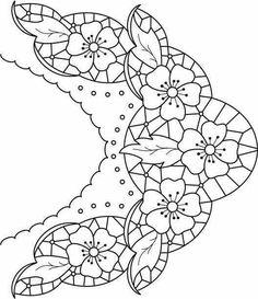Ubrus obdélník richelieu, 90 x 34 cm Cutwork Embroidery, White Embroidery, Vintage Embroidery, Cross Stitch Embroidery, Embroidery Patterns, Machine Embroidery, Broderie Bargello, Lace Painting, Ideias Diy