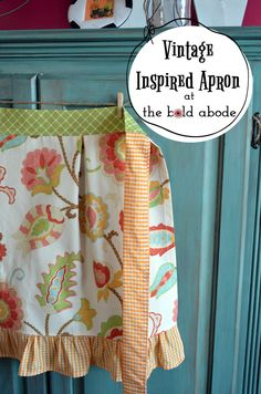 Simple Sewing Tips and How to Make a Vintage Inspired Apron: An Introduction - The Bold Abode