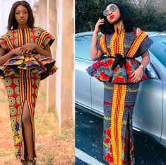 2019 Design Pictures Of Latest African Ankara Dresses For Beautiful Ladies:The Most Gorgeous & Lovely Designs To Slay For These Week - Owambe styles Latest Ankara Dresses, Ankara Dress Styles, African Lace Dresses, African Dresses For Women, African Attire, African Wear, Ankara Tops, African Outfits, African Clothes