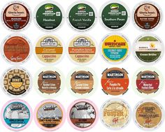 20-count K-cup for Keurig Brewers ALL FLAVORED Coffee Variety Pack Featuring Green Mountain, Gloria Jean's, Donut House, Grove Square Cappuccino, Authentic Donut House, Barnie's Coffee Kitchen, Hurricane, Martinson, Brooklyn Bean and  Guy Fieri >>> A special product just for you. See it now! : K Cups