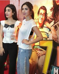 Mahira Khan at the Trailer Launch of her new film 7 Din Mohabbat In Mahira Khan, Indian Fashion, Pakistani, Ruffle Blouse, Product Launch, Actresses, Film, News, People