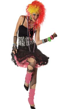 Adult 80s Party Girl Popstar Costume