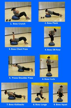Bosu Workout - but stand on the flat side!